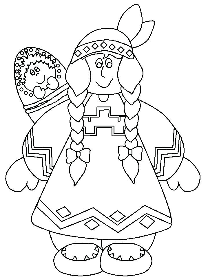 718x957 Native American Coloring Pages Icontent