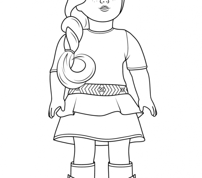 678x600 American Girl Pictures To Color American Girl Doll Coloring Pages