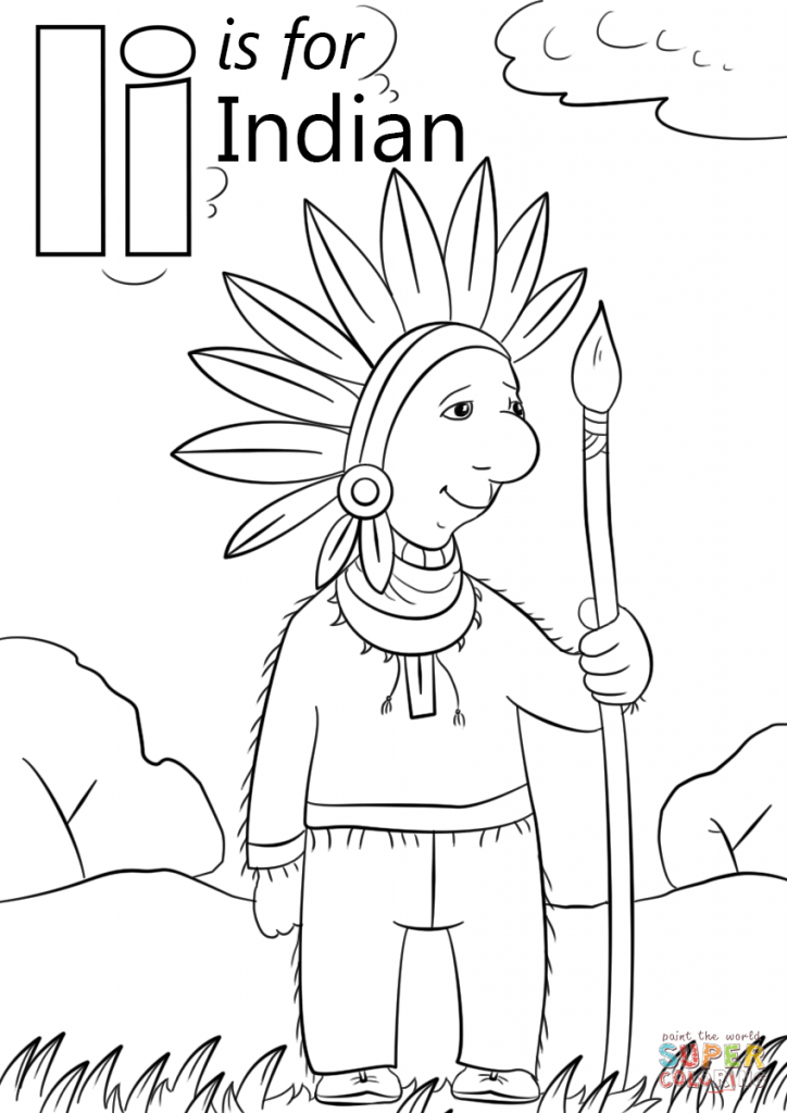 724x1024 Free Coloring Page Adult Indians Keeping Printable Indian Pages