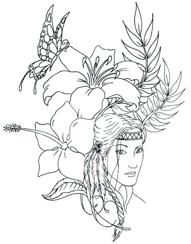 375x480 Free Native American Coloring Pages Free Native Coloring Pages