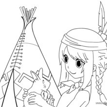 220x220 Indian Coloring Pages