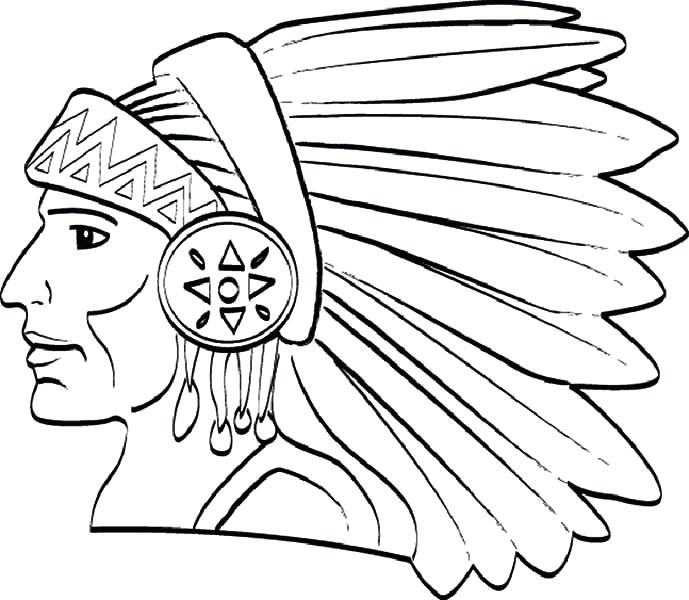 689x600 Native American Coloring Book Chief Native Tribe Coloring Page