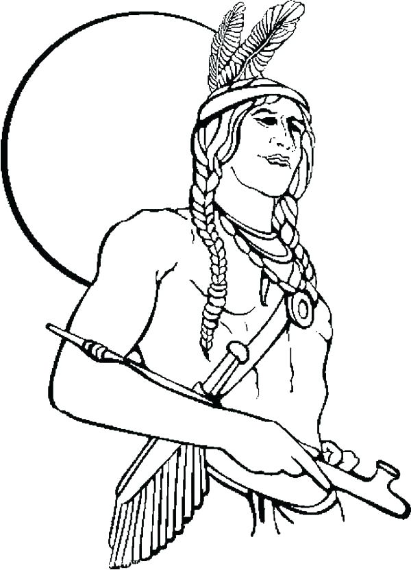 600x832 Native American Coloring Book Or Adult Native Totem