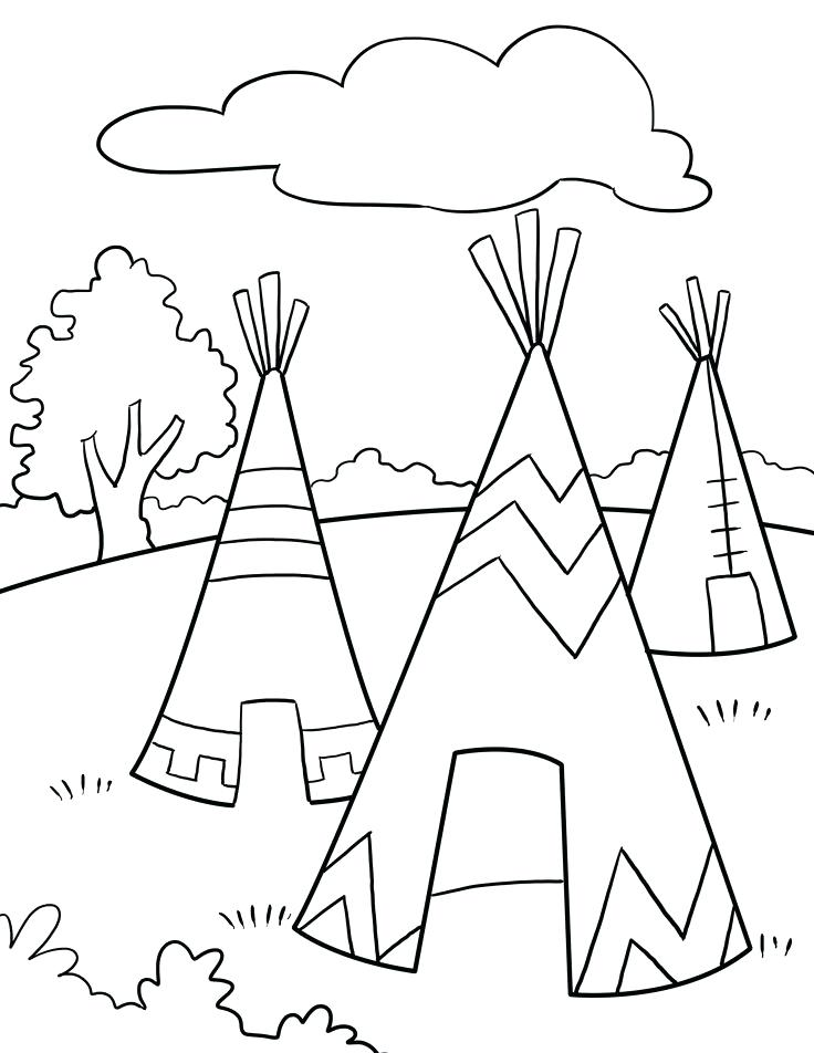 736x952 Native American Coloring Pages Printable Club On American Indian
