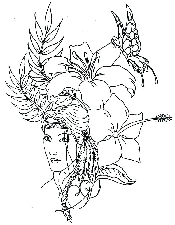 600x768 Native American Indian Coloring Pages S Native American Indian