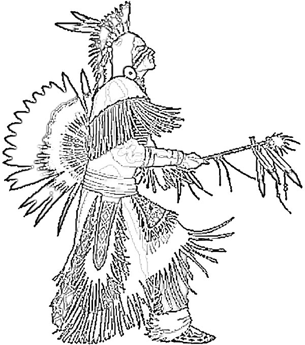 600x678 Top Native American Coloring Pages