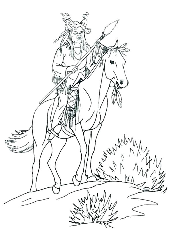 600x847 Native American Coloring Book