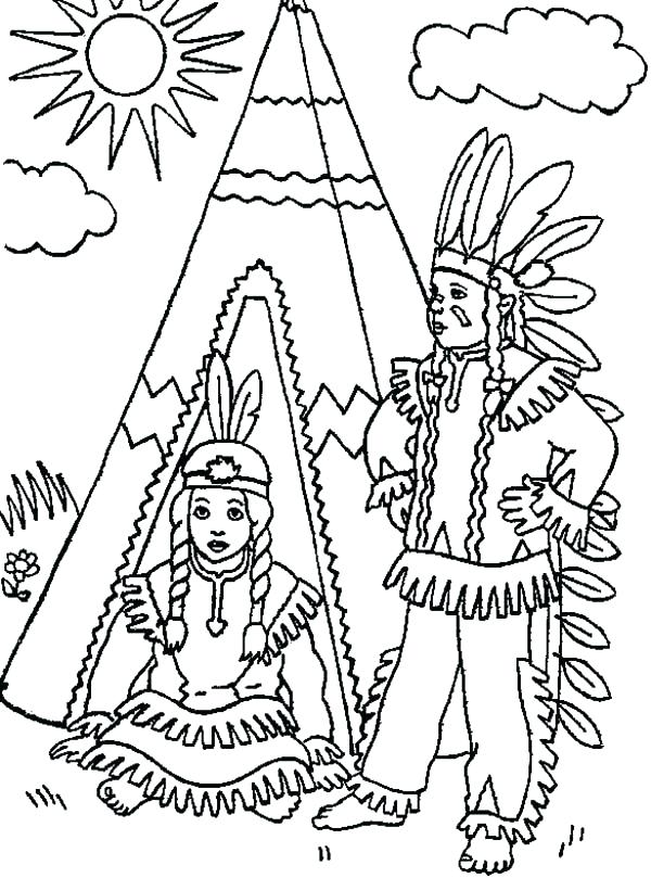 600x809 American Indian Coloring Pages Native Coloring Pages Free Plus Two