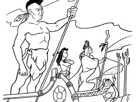 440x330 American Indian Colouring Sheets Native Coloring Pages Free