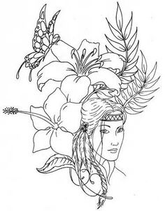 236x302 Free Coloring Page Native American