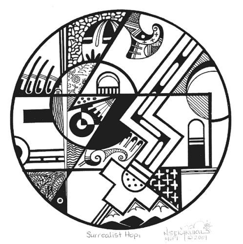498x500 Hopi Indian Symbols Coloring Page Hopi Native American Drawings