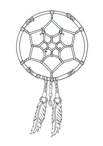 340x480 Native American Dreamcatcher Coloring Page Fine Art Appreciation