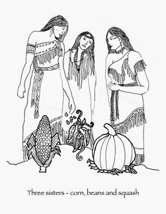 236x305 Native American Children Colouring Page Family History
