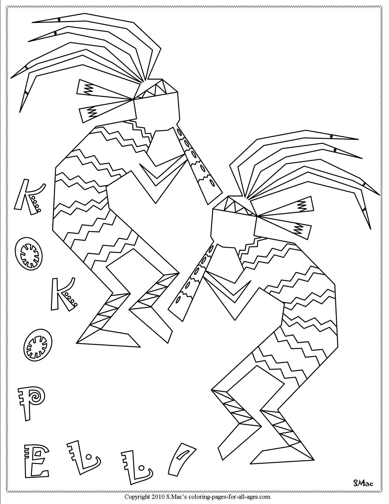 1275x1650 S Mac's Kokopelli Coloring Page Preschool Music