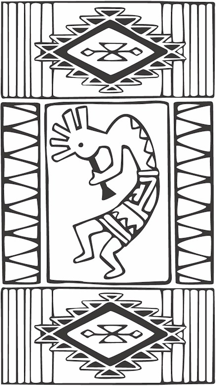 437x780 Southwestern Native American Coloring Page