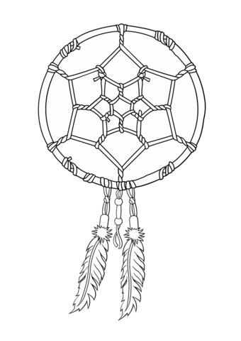 340x480 Native American Dreamcatcher Coloring Page Fine Art Appreciation