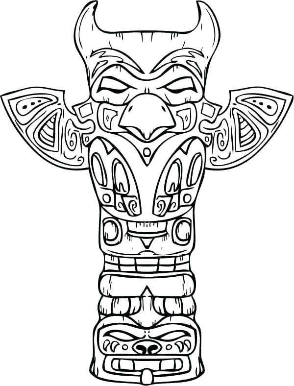 600x788 Native American Coloring Pages