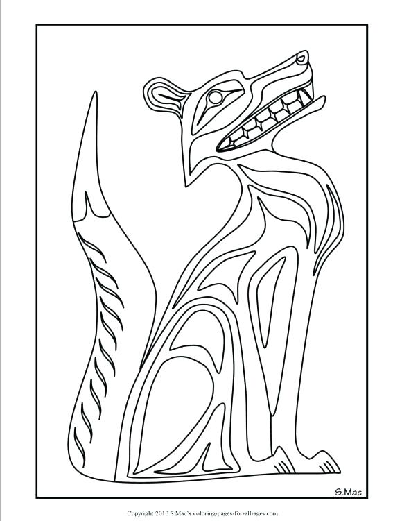 580x751 Native American Coloring Pages