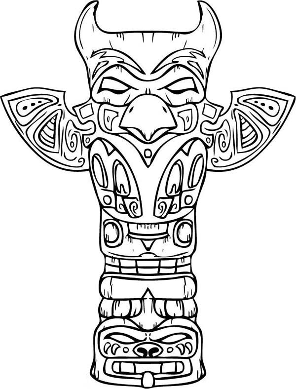 600x788 Amazing Sculptures Of Native American Totem For Native American