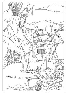 236x329 Free Coloring Page Coloring Adult Native Americans Indians Sat