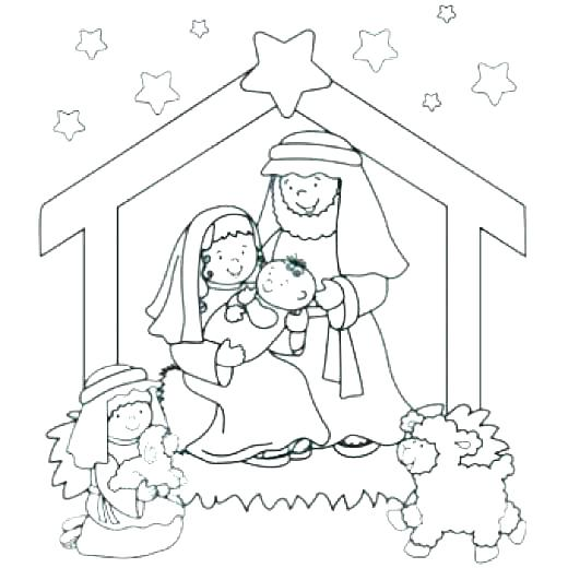 520x520 Nativity Color Page Precious Moments Nativity Scene Coloring Pages
