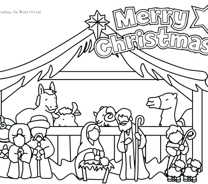 678x600 Nativity Color Pages Colouring Pages Of The Nativity Scene