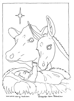 256x352 Nativity Coloring Pages