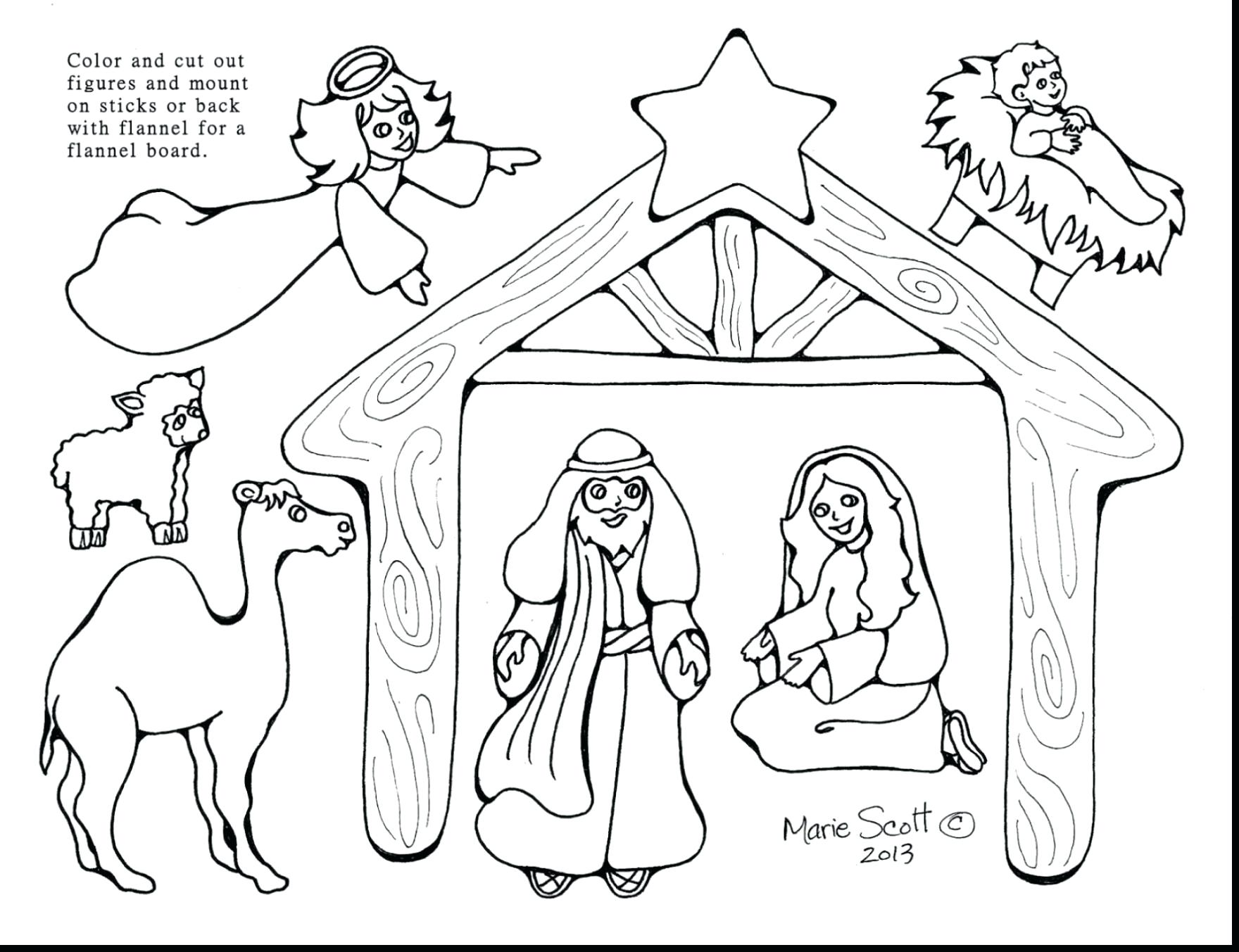 1760x1353 New Coloring Nativity Animals Coloring Pages