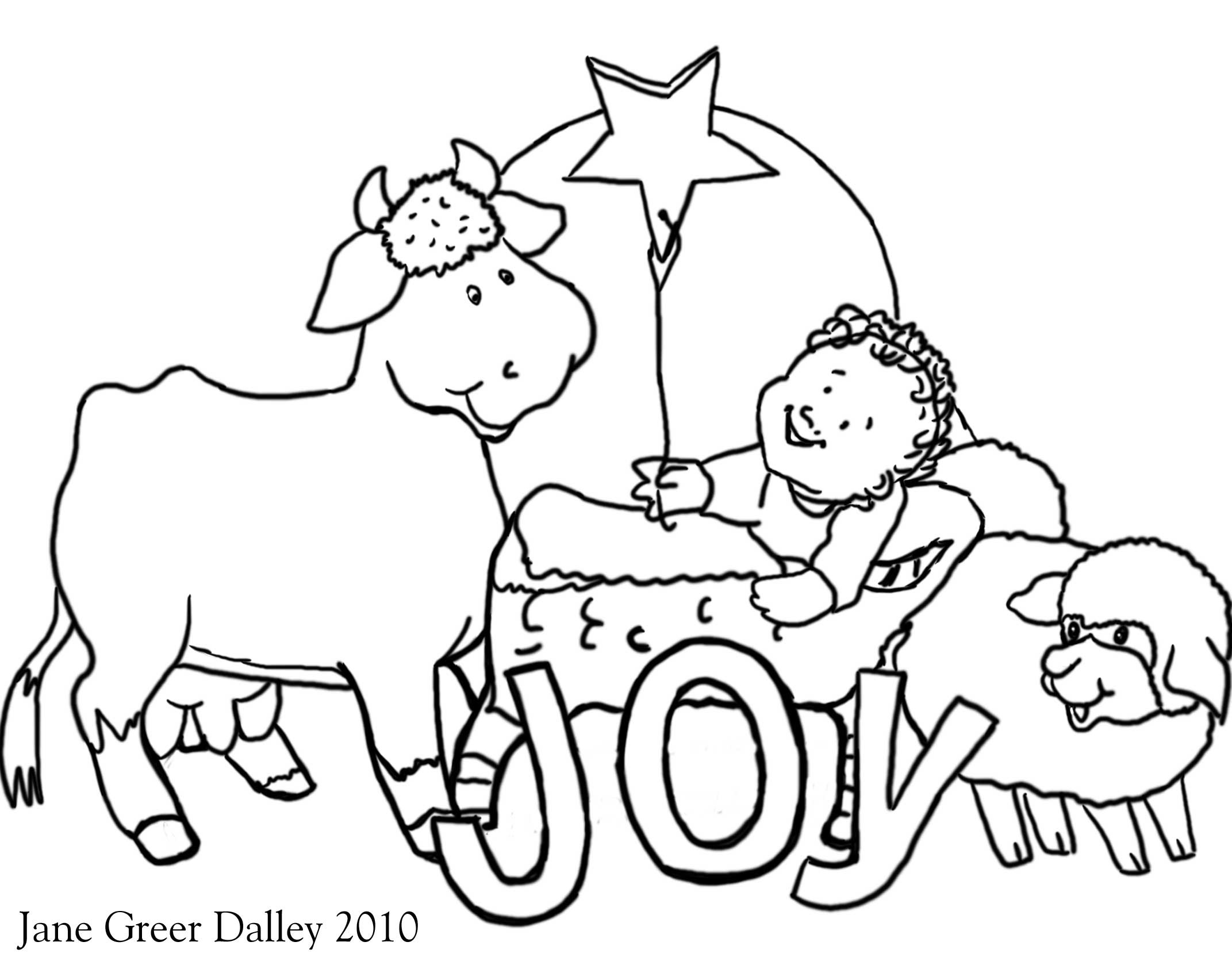 2143x1679 New Coloring Pages Nativity Animals