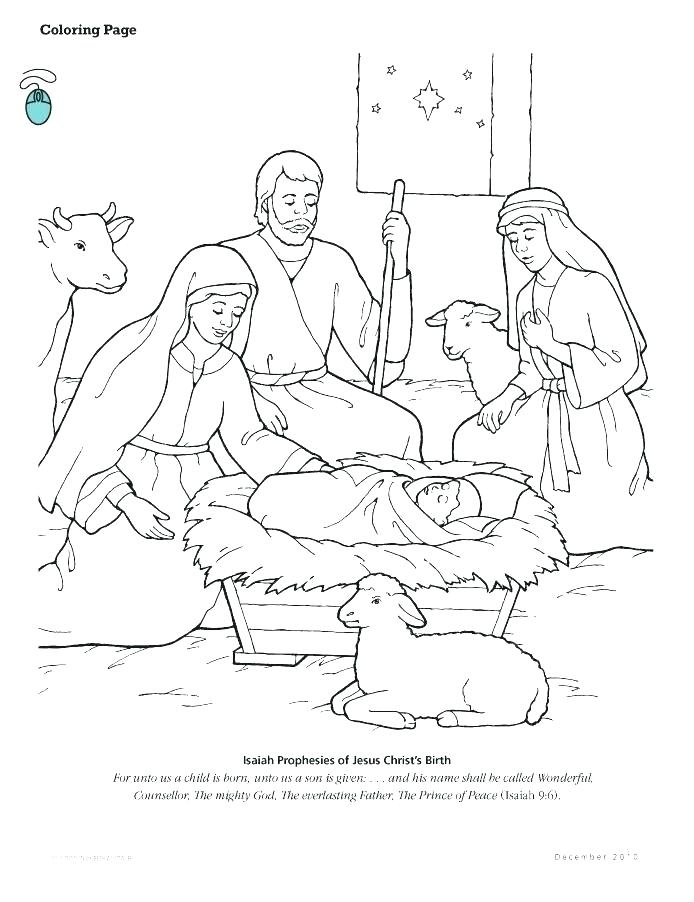 694x902 Precious Moments Nativity Scene Coloring Pages Free As Well As