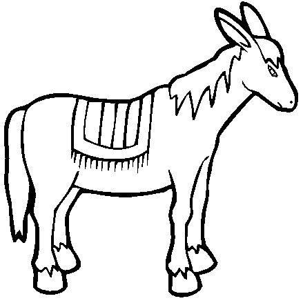 439x439 Donkey Coloring Pages Nativity Animals Donkey