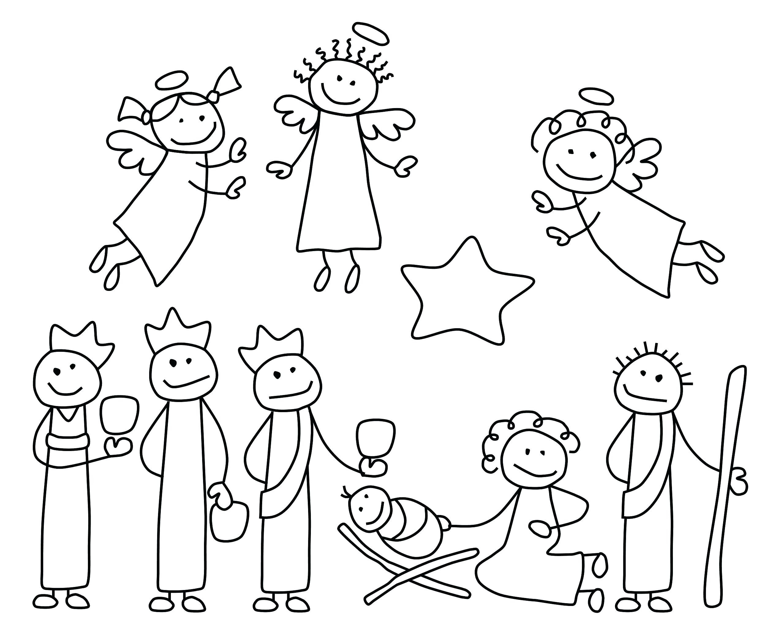 2550x2100 Coloring Pages Nativity Animals Inspiration Coloring Nativity