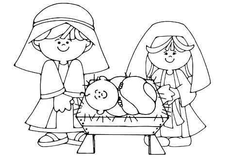476x333 Coloring Pages Nativity Nativity Color Page Manger Coloring Page