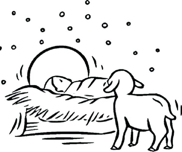 600x500 Coloring Pages Nativity Daily Coloring Pages Nativity