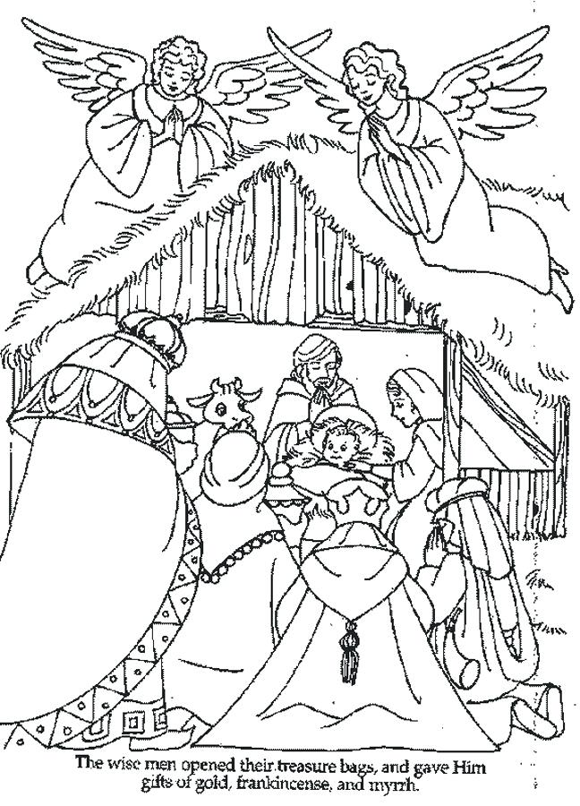 648x900 Coloring Pages Of Nativity Characters Color Kids