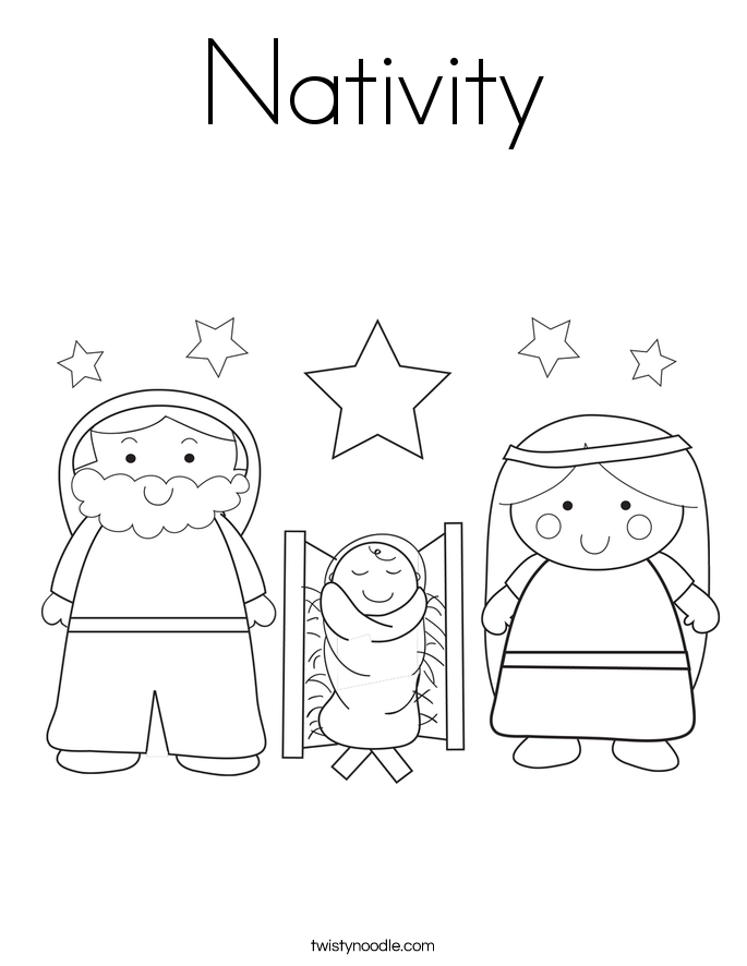 685x886 Nativity Coloring Page