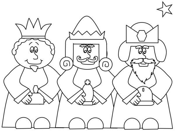 600x450 Nativity Coloring Pages