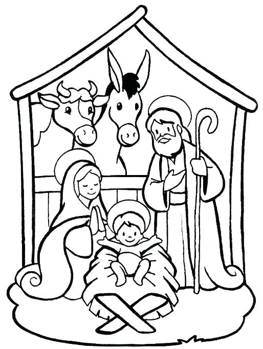514x682 Nativity Coloring Pages Printable Nativity Scene Coloring Pages