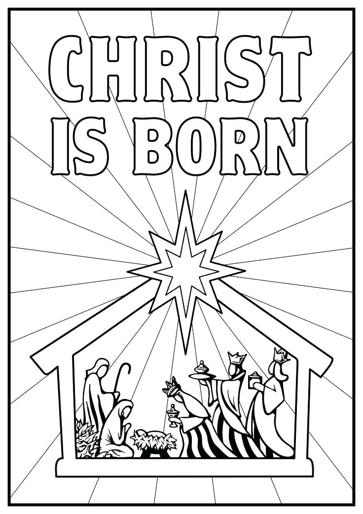 736x1041 Nativity Scene Coloring Page Full Size Of Coloring Manger Scene