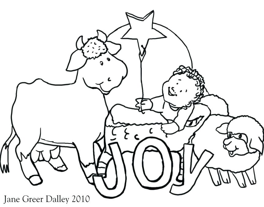 863x676 Nativity Scene Coloring Pages Nativity Coloring Pages For Adults