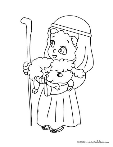 364x470 Nativity Shepherd Character Coloring Pages