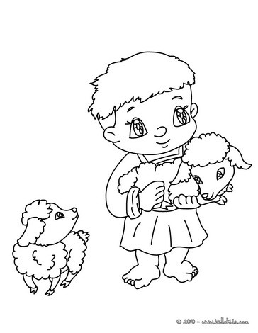 364x470 Nativity Woman Character Coloring Pages