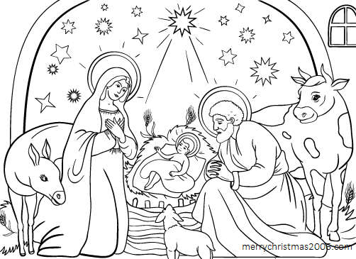 502x365 Download Free Printable Christmas Coloring Pages For Kids