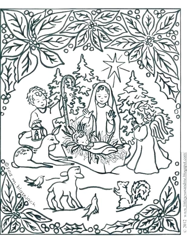 618x805 Free Printable Nativity Scene Coloring Pages Printable Nativity