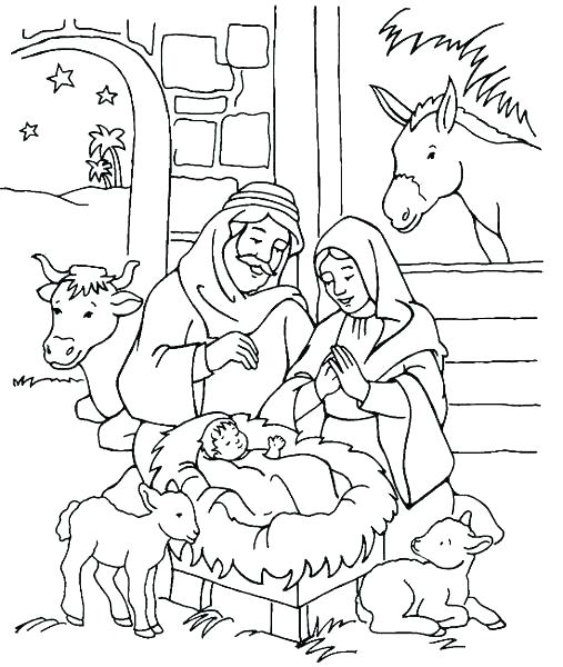 507x600 Nativity Coloring Page Villager Kid With Flute Coloring Page