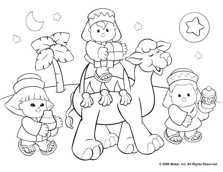 736x568 Nativity Scene Coloring Page