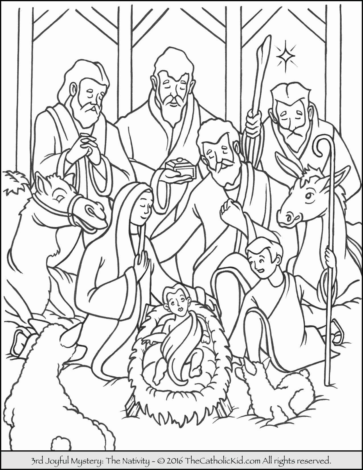 1275x1650 Creative Coloring Pages To Print Awesome Creative Design Nativity
