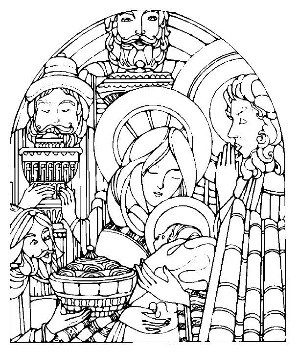 609x720 Free Christmas Coloring Pages