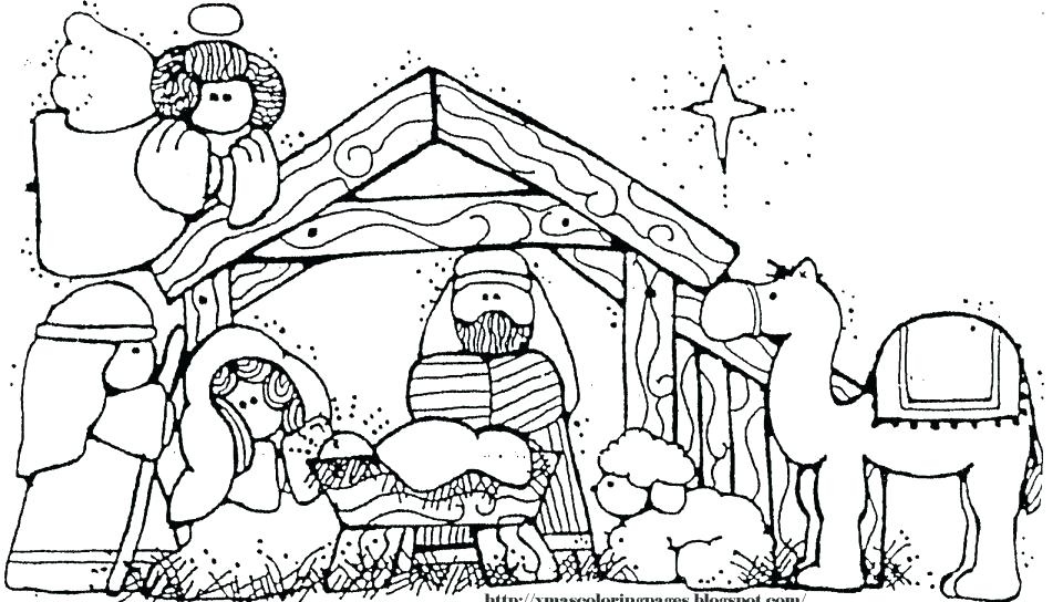 960x544 Manger Coloring Page Free Nativity Coloring Pages Baby In Manger