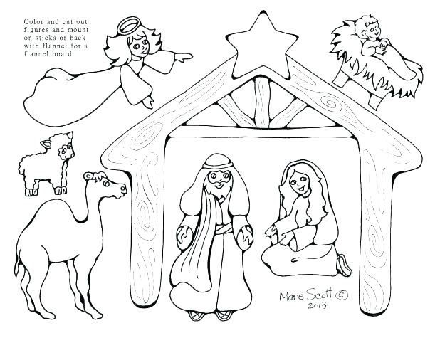 618x475 Nativity Color Pages Nativity Coloring Pages Printable Nativity
